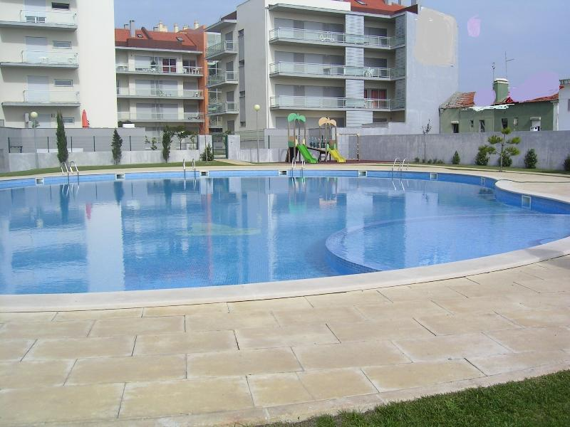 Pool large enough for swimming lengths, showers, sun loungers provided for you.