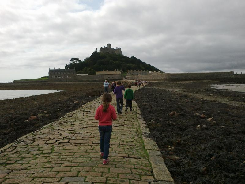 St Michael's Mount, nr Penzance - an hour or so by car, but well worth it!