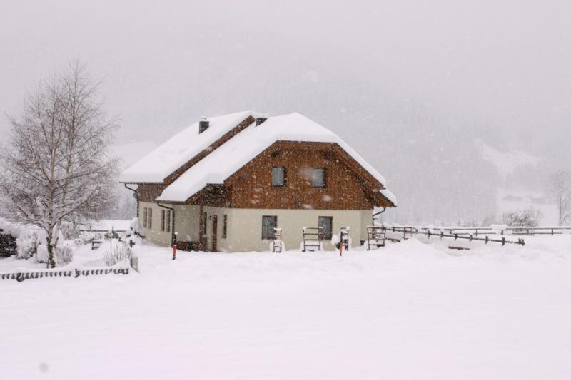 apartment entrance snowfall