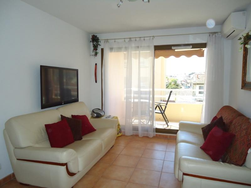 Air conditioned lounge with flat screen TV and UK channels
