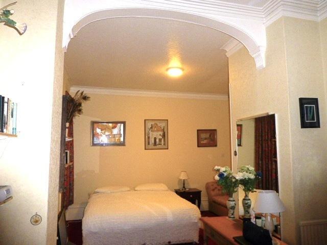 Master Bedroom with super king & TV + huge cupboard & dresser