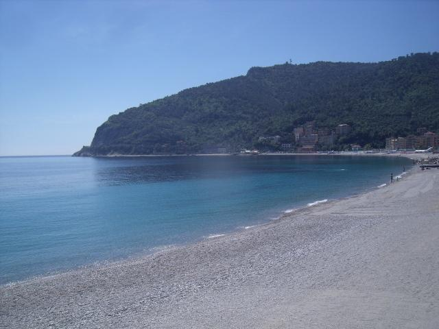 the beach and Capo Noli