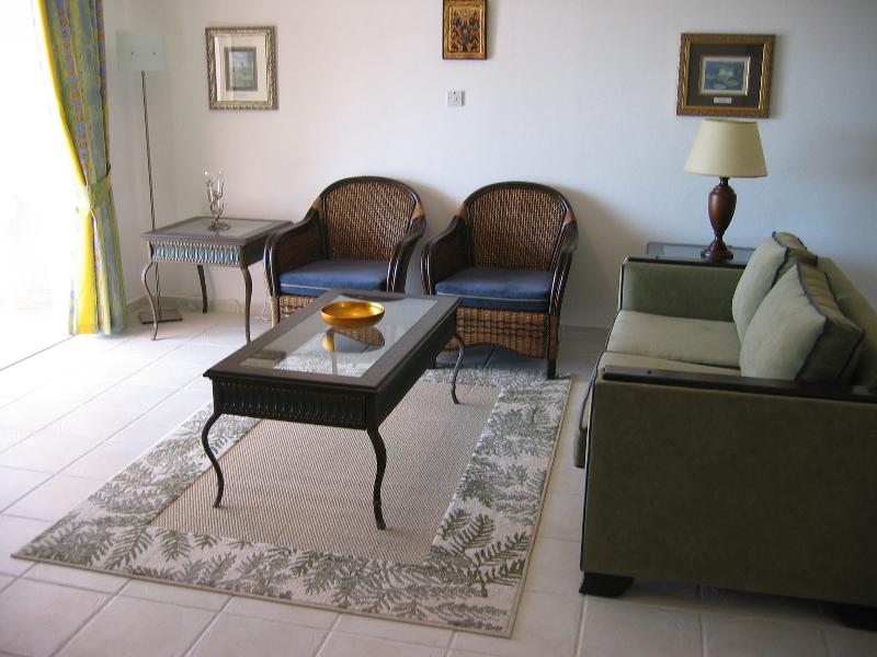 Large, bright, airy living area with beautiful imported furnishings & leading onto the veranda.