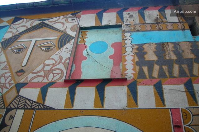 Badalucco is known as 'paese dipinto': murals, ceramics, sculptures are scattered everywhe