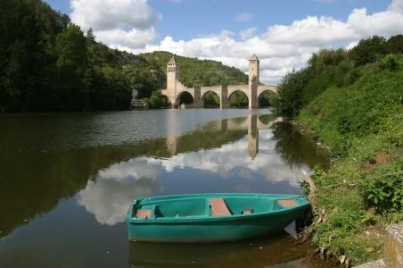 Typical of the many river views in the region. This is the Lot near to Cahors