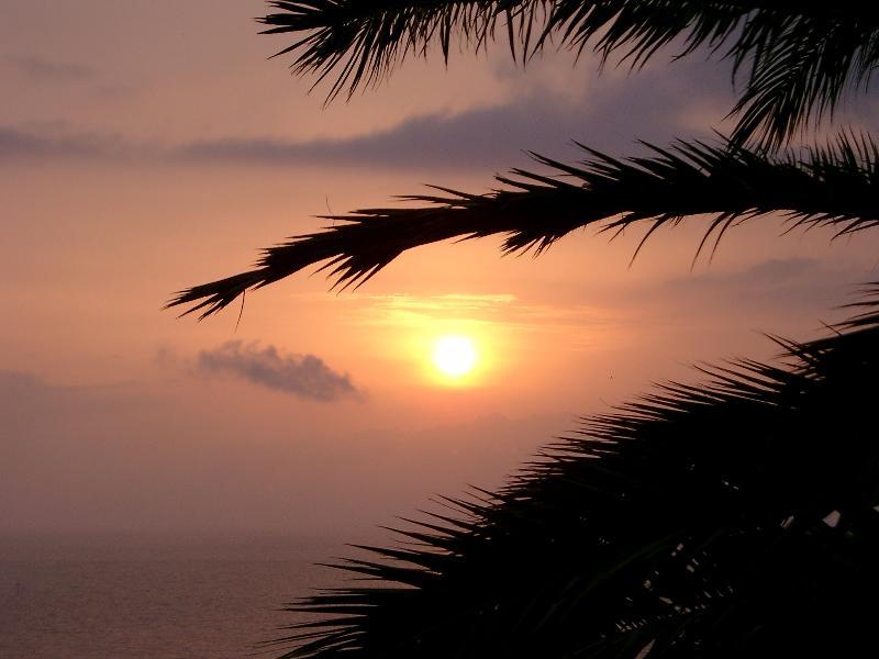 Sunrise over the Med.