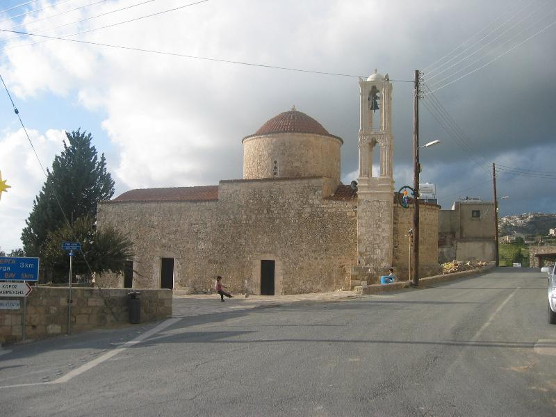 The old church in Tala village, a traditional Cypriot village.