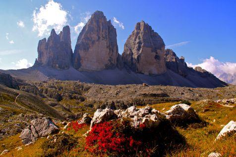 The world famous 'Three Peaks' of Lavaredo: yes baby, it rocks!
