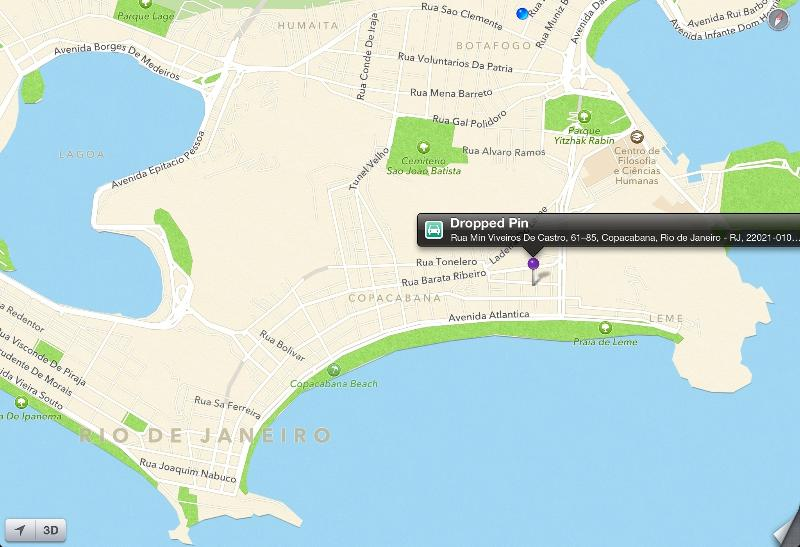 Near the best spots of Rio, just 2 blocks from the beach! Sugar Loaf 2.8 km walk distance