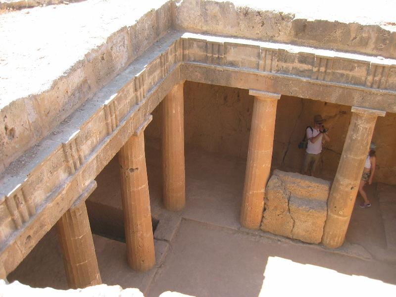 Tombs of the Kings. Ancient burial site cut out of solid rock. 5 min walk from Paphos Harbour.