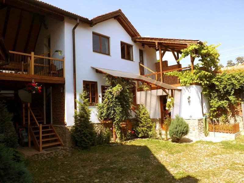 Casa Pelu, 6 sleeps, courtyard view (Casa Vale, Sibiu, Transylvania, Romania)