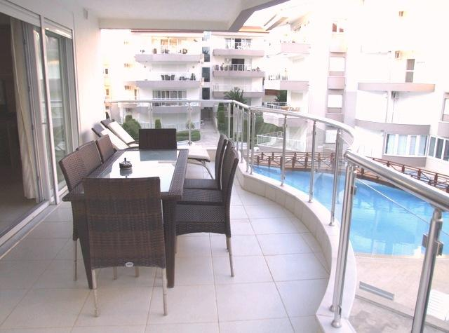 Great position within the community with pool views from a large balcony