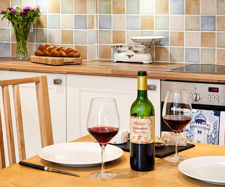 Local Kentish wines, ales and lagers from Biddenden are a great addition to your Kent holiday