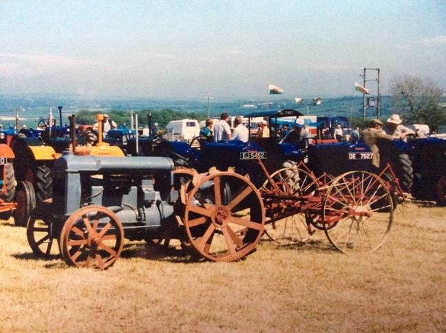Vintage tractors at country show