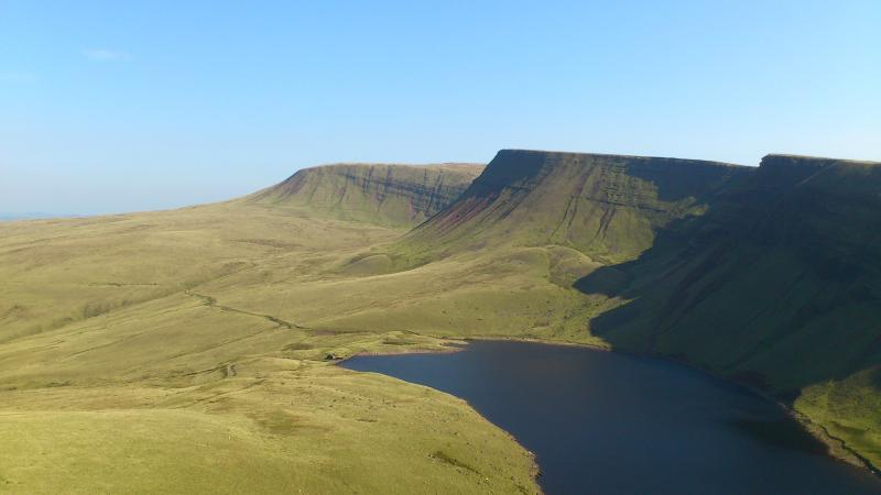 Llyn y Fan Fach, a fantastic walk. You can see it in the distance from the property.