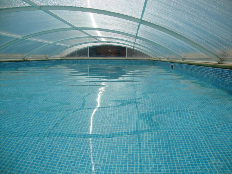 Outdoor Covered Heated Swimming Pool Open Easter to End September