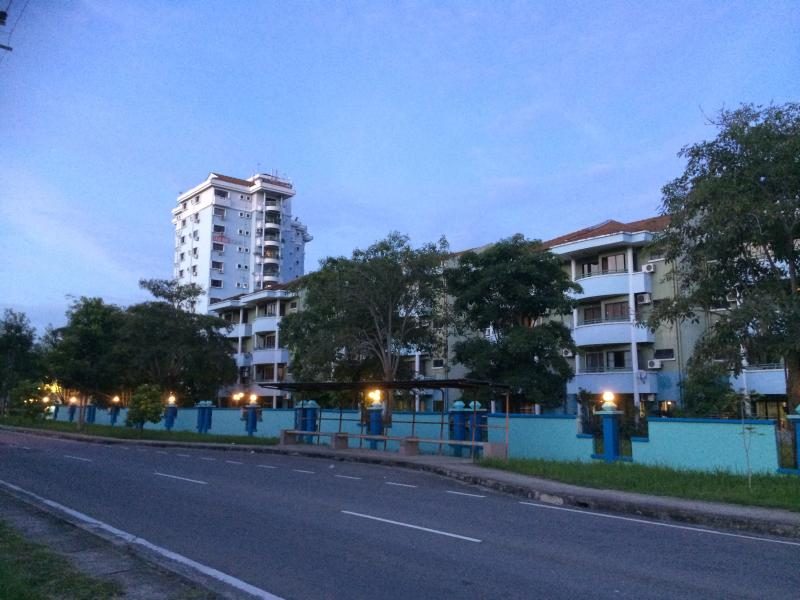 Overall outside view of Colonnade Condominium Complex