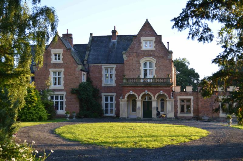 Fronfraith Hall - View of Front in Summer - West Wing on right hand side