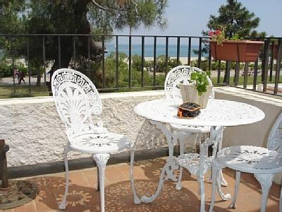Sit on the terrace view the sea and watch the world go by.