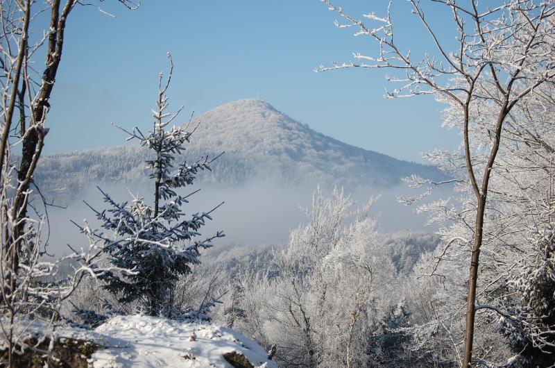 Lausche, più alta montagna tedesca ad est dell'Elba