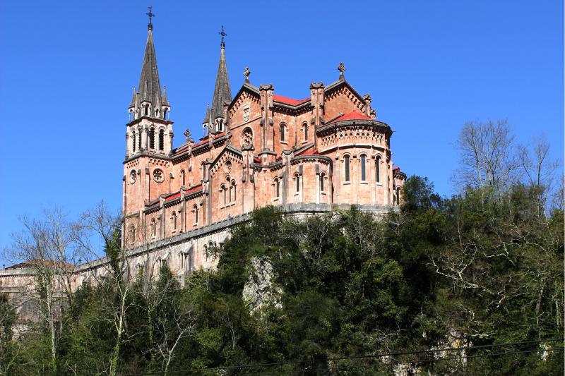 Covadonga church, famous throughout Spain.