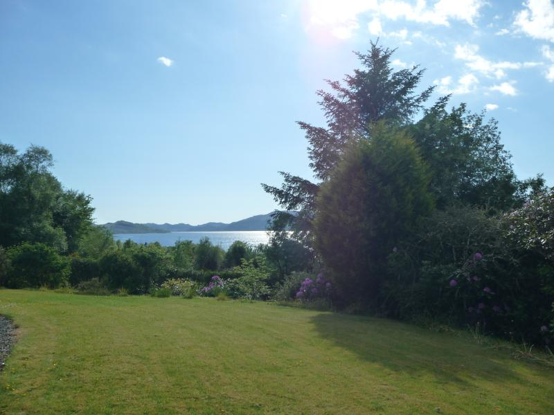 Looking down the loch from the front lawn area. A great place to have a picnic.