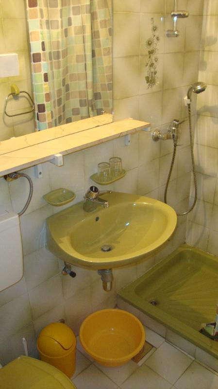 Vodice Marica A2- bathroom with shower & toilet