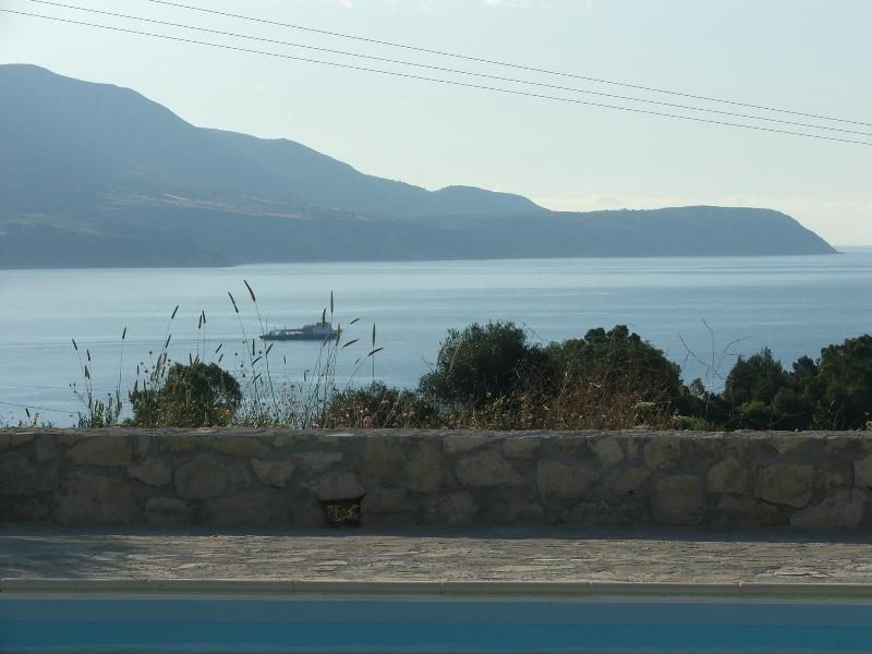 View of the bay & Mount Aenos - Ferry boat to Pesada