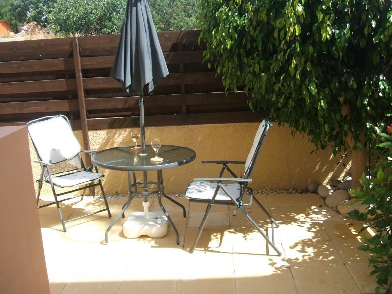 PRIVATE GARDEN WITH BBQ TABLE AND CHAIRS SUNBEDS AND EASY CHAIRS
