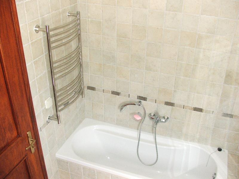 Heated towel rails in all bathrooms
