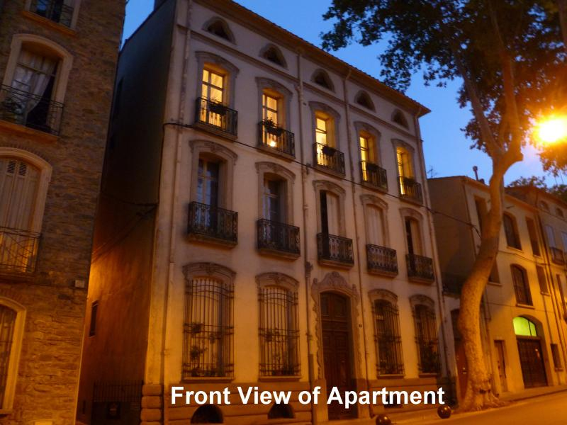 Front View of Apartment at Night