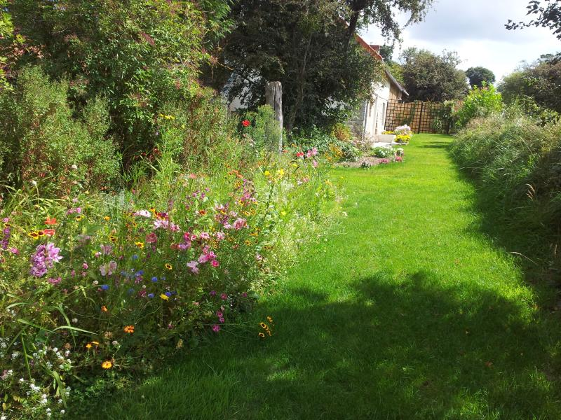 Jardín privado de huéspedes.