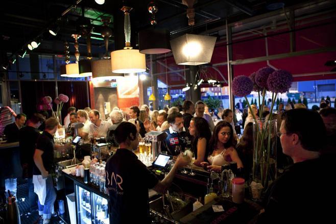 Bars, restaurants, cafes everywhere.