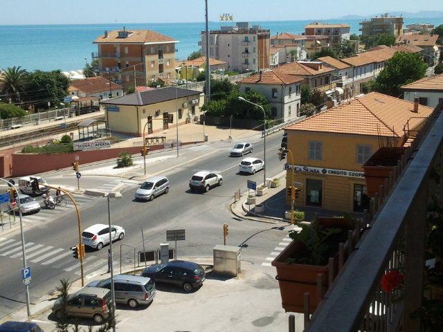 balcony North Adriatic sea view railway
