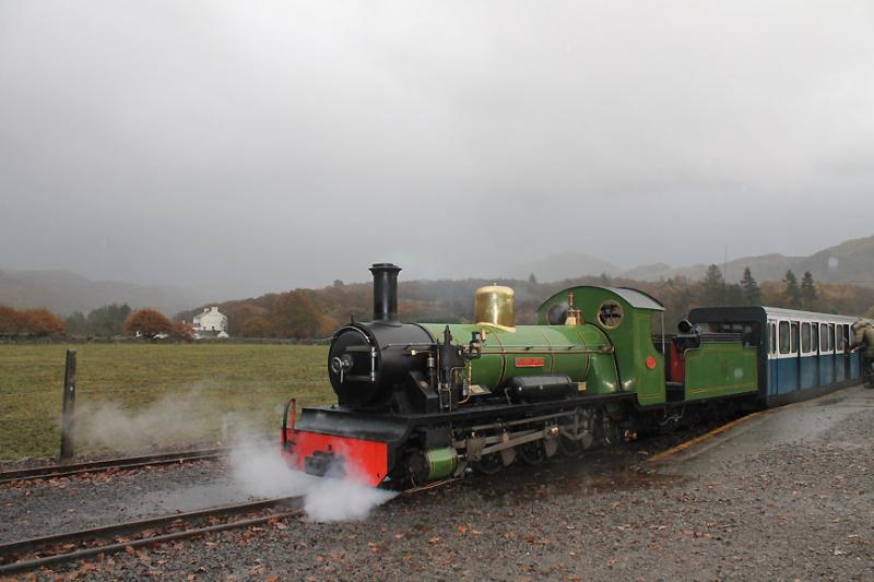 Steam train at Dalegarth, near the Hamlet of Boot