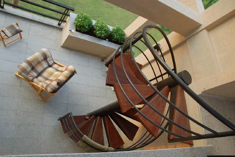 from upper balkony
