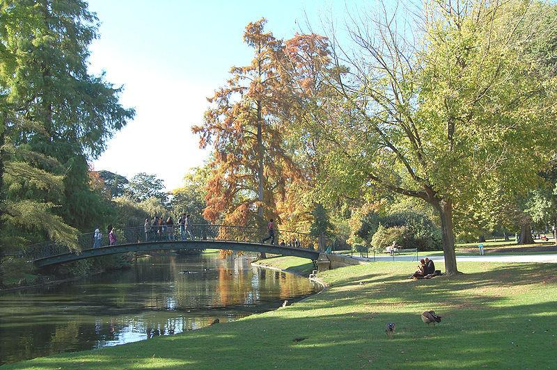 Bordeaux Public Gardens are just meters away