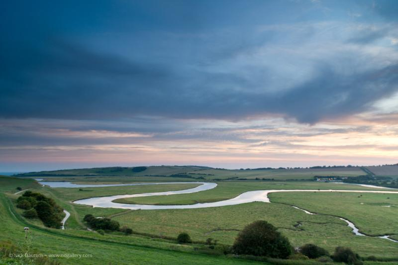 The Cuckmere Haven meanders to the sea