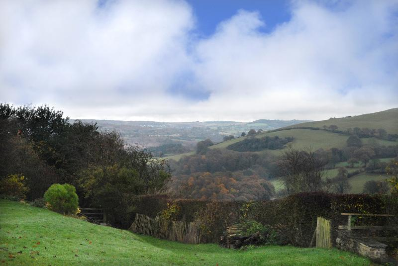 The views are panoramic, including the Flintshire plain and the Clwydian Hills