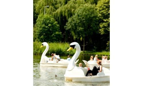Bicycle-boat at Themepark Plaswijck