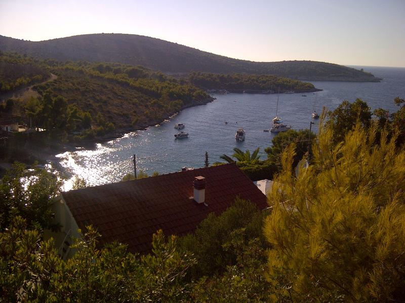 View from the hill over the villa