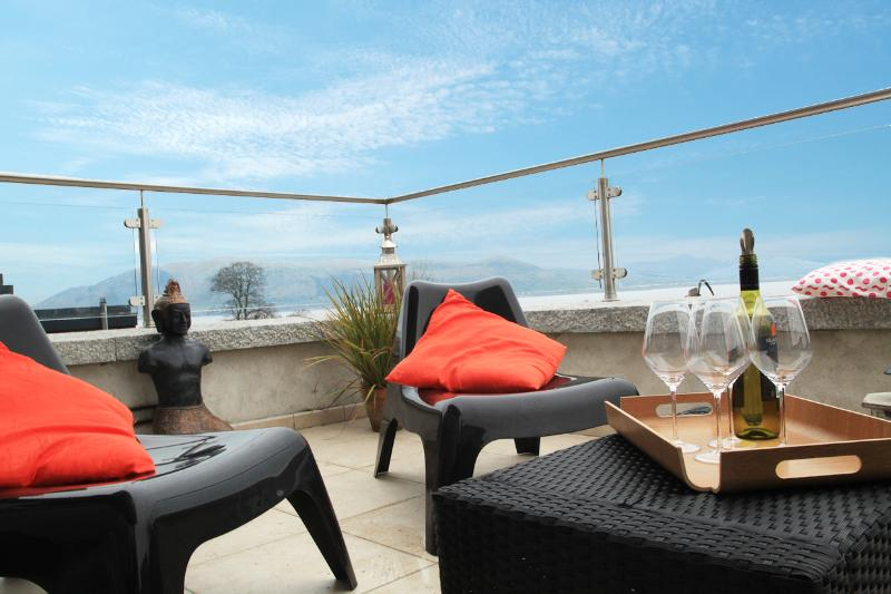 Enjoy a Glass of Wine overlooking the Lough