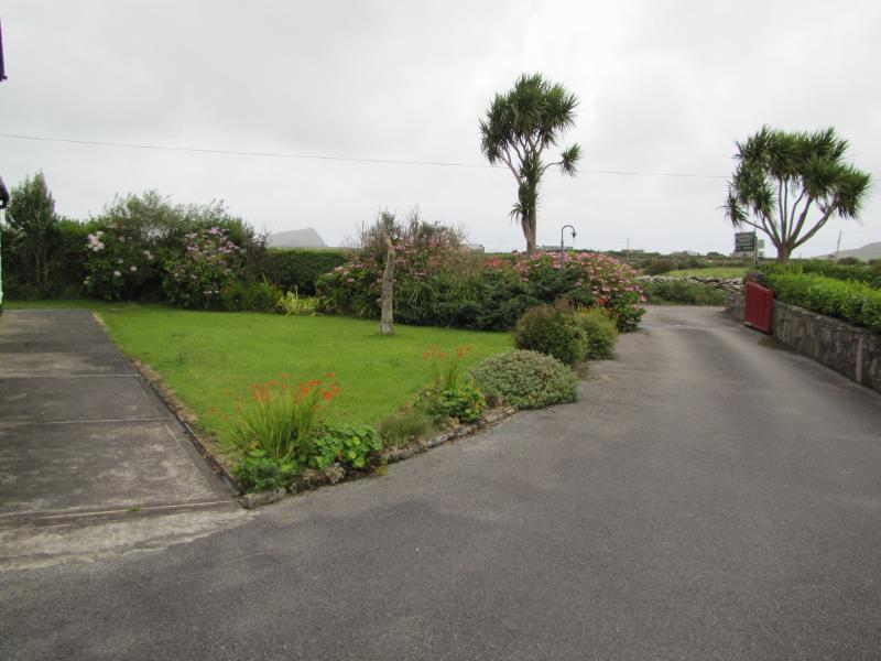 The driveway, shared with the B&B
