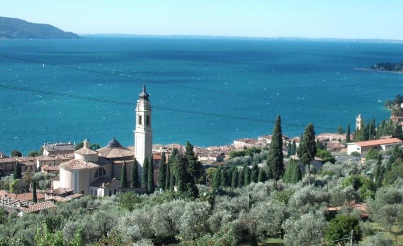 The beautiful panorama from La Terrazza sul Garda