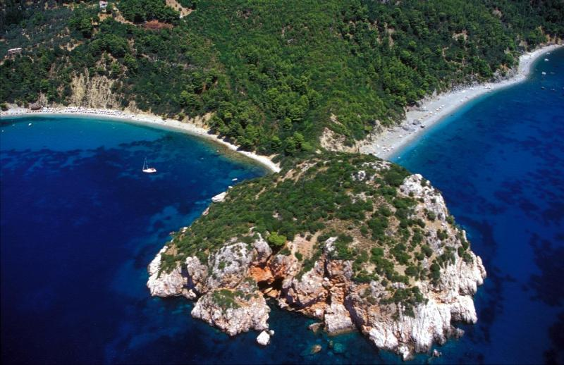 Location photo. Stafilos & Velanio beaches (1km)