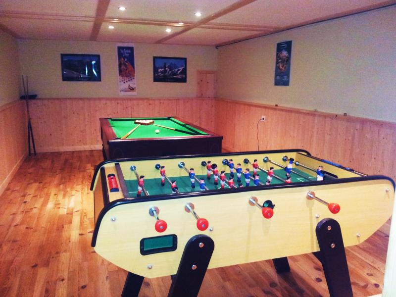 Games room with full size pool table and table football