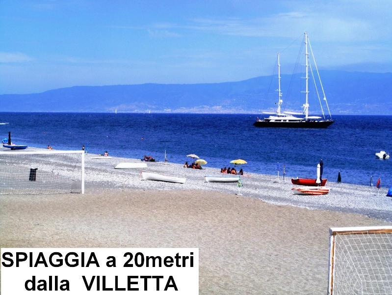 Spiaggia a 20 metri dalla villetta