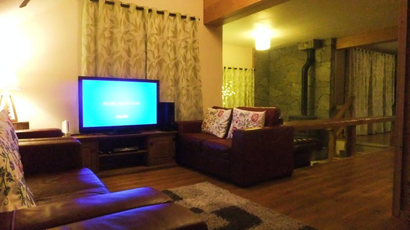 Site back on our sumptuous leather couches whilst catching up on some Sky Tv