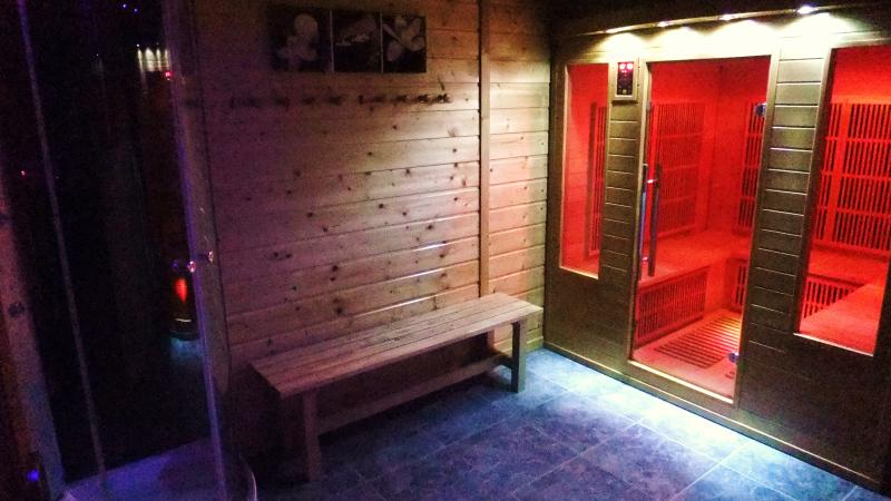 Relax those aching muscles in our infrared sauna