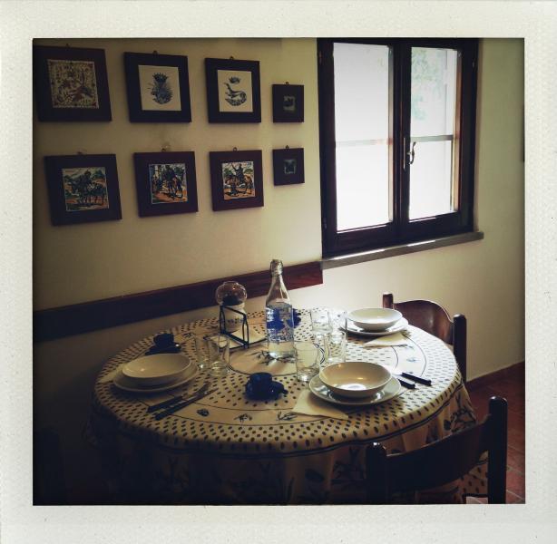 La zona pranzo di Casa La Ghianda